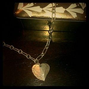 Tiffany double heart choker